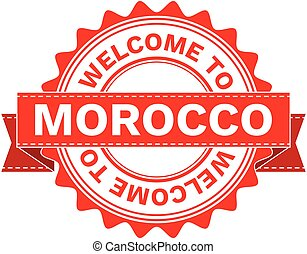 Vector Illustration Doodle of WELCOME TO COUNTRY MOROCCO