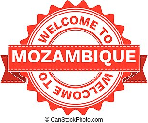 Vector Illustration Doodle of WELCOME TO COUNTRY MOZAMBIQUE. EPS8 .