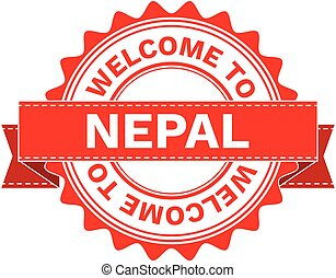 Vector Illustration Doodle of WELCOME TO COUNTRY NEPAL . EPS8 .