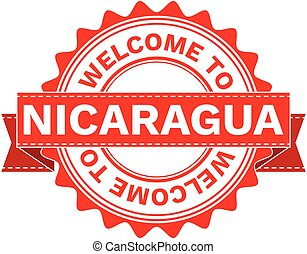 Vector Illustration Doodle of WELCOME TO COUNTRY NICARAGUA . EPS8 .
