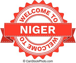 Vector Illustration Doodle of WELCOME TO COUNTRY NIGER . EPS8 .
