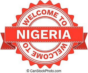 Vector Illustration Doodle of WELCOME TO COUNTRY NIGERIA