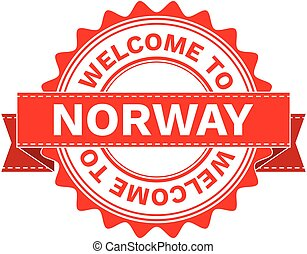 Vector Illustration Doodle of WELCOME TO COUNTRY NORWAY . EPS8 .
