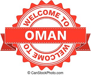 Vector Illustration Doodle of WELCOME TO COUNTRY OMAN
