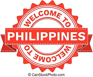 Vector Illustration Doodle of WELCOME TO COUNTRY PHILIPPINES . EPS8 .
