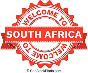Vector Illustration Doodle of WELCOME TO COUNTRY SOUTH AFRICA. EPS8 .