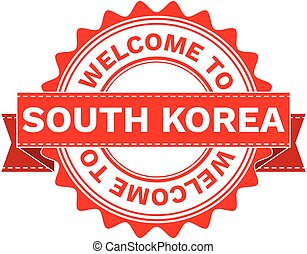 Vector Illustration Doodle of WELCOME TO COUNTRY SOUTH KOREA