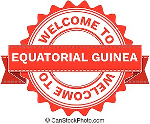 Vector Illustration Doodle of WELCOME TO COUNTRY EQUATORIAL...
