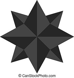 vector illustration double star flat icon black color