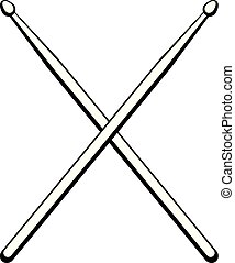 Vector illustration drumsticks. Music instrument. Drum...