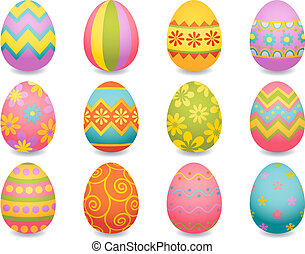 Vector illustration - easter egg icons