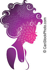 Beautiful woman - Vector illustration (eps 10) of Beautiful ...