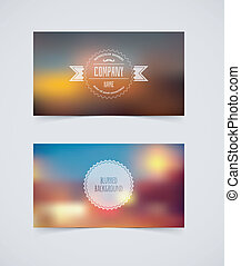 Vector illustration (eps 10) of Blurred cards design template