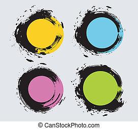 Spot set - Vector illustration (eps 10) of Spot set