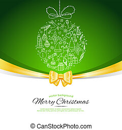 Xmas doodle ball - Vector illustration (eps 10) of Xmas...