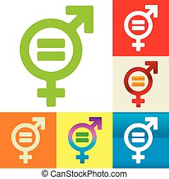 Equality - Vector illustration. Equality. Symbol of man and...