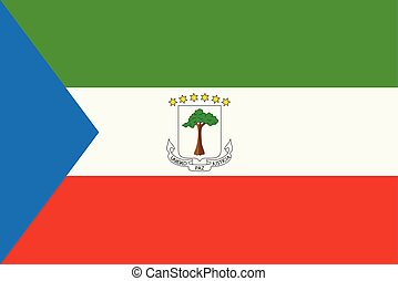 Equatorial Guinea flag - Vector illustration Equatorial ...