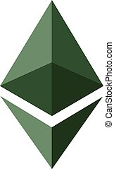 Ethereum Classic crypto - Vector illustration Ethereum...
