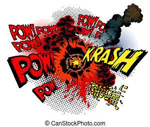 explosion - vector illustration - explosion