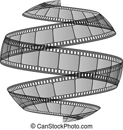 Vector illustration film ribbon