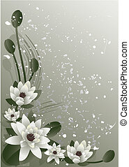 blossoming lotus - Vector illustration - fine blossoming...
