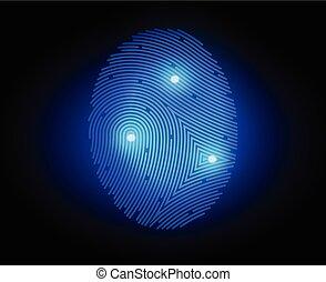 Vector illustration finger print