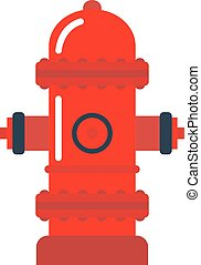 Vector illustration fire hydrant.