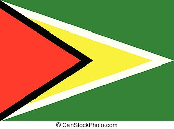 vector illustration flag of Guyana