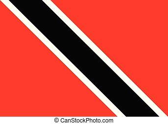 vector illustration flag of trinidad-and-tobago