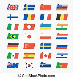 Simple flags of the countries
