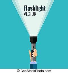 Flat flashlight