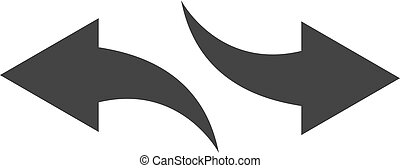 vector illustration flat icon back and next black color