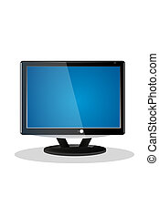 flat screen television lcd - vector illustration flat screen...