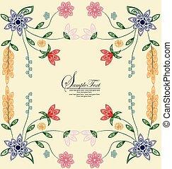 Vector illustration, floral background