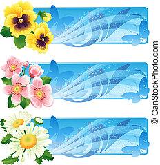 Flower banner