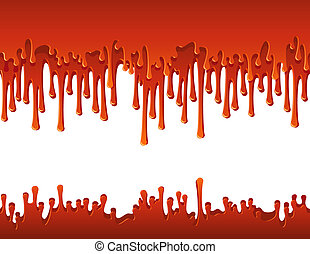blood - Vector illustration - flowing blood border