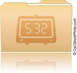 Folder with Clock