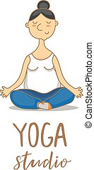 Vector illustration for an yoga studio