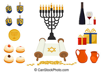 Vector illustration for Hanukkah is big Jewish holiday....
