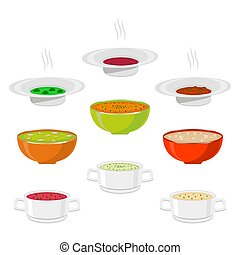 Vector illustration for hot ceramic bowl