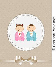 Vector Illustration for Newborn Baby