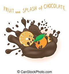 Vector illustration for ripe fruit citrus orange