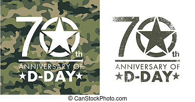 70th anniversary of D-Day - Vector illustration for the 70th...