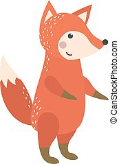 Vector illustration fox character. - Vector illustration of...