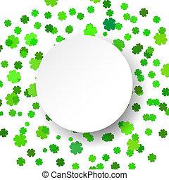 Vector illustration glittering confetti green celebration ...