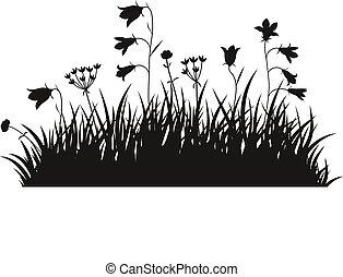 Vector illustration grass background