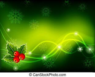 Vector illustration - green Christmas background