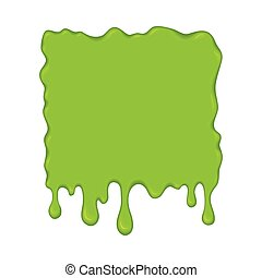 Vector illustration - green slime drips. - Vector...