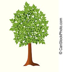 vector illustration - green tree