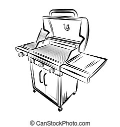 Vector illustration - Grill on a white background.